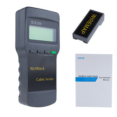 SC8108 Network Cable Tester Meter Cat5 LAN Phone RJ45 Mapper 1 Far End Jack