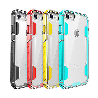 Slim Hybrid Rubber Bumper Clear Hard Back Case Cover For Apple iPhone 7 / 7 Plus