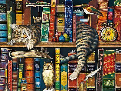 Buffalo Games Charles Wysocki Cats: Frederick The Literate Jigsaw Puzzle (750 Pi
