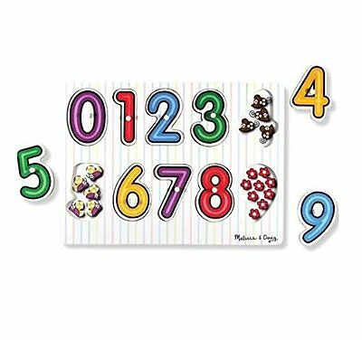 Melissa & Doug Wooden Peg Puzzle - See-Inside Numbers