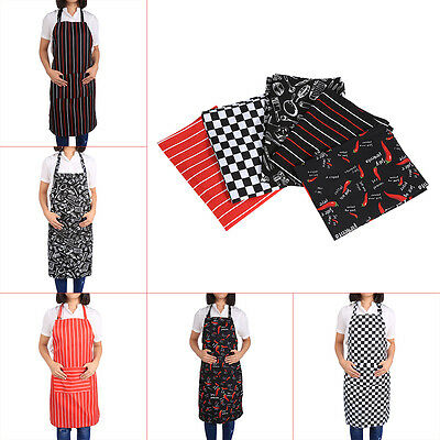 New Waterproof Cafe Kitchen Restaurant Cooking Bib Apron Dress With Pockets js