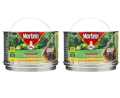 2 x Mortein Outdoor Mosquito Coils 30-Pack 360g