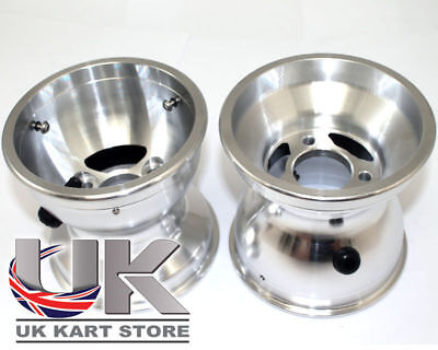 Pair of 210mm Douglas Alloy Rear Wheels UK KART STORE