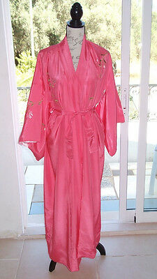 Japanese Kimono pink embroidered SALE reduced to £17.00