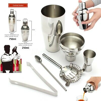 250ML/750ML Stainless Steel Cocktail Shaker Jigger Bar Drink Mixer Tools