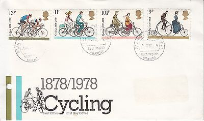 Cycling Bicycle Fahrrad Great Britain 1978 FDC
