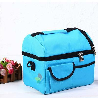 Portable Thermal Travel Lunch Bag School Insulated Picnic Carry Tote Waterproof