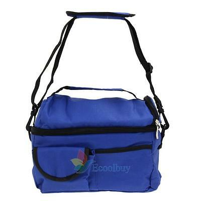 Portable Insulated Thermal Cooler Lunch Box Picnic Carry Tote Storage Square Bag
