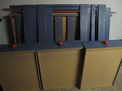 bunkers side ladder single  bunk bed blue and red