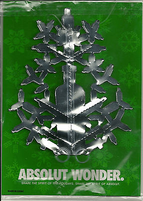 Absolut Vodka Wonder Snowflake Ornament 2003 Christmas New Year's Party Dec NEW
