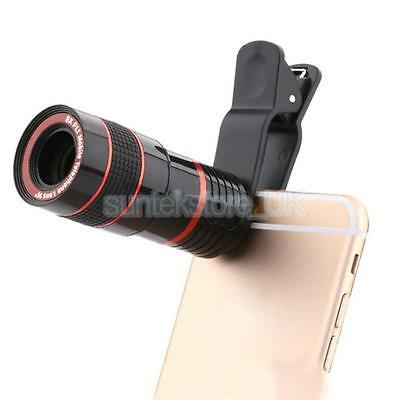 Clip-on 8x Zoom Optical Telescope Camera Lens for iPhone 7 Samsung Galaxy S7
