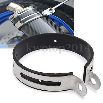 11cm Motorcycle Exhaust Muffler Silencer Can Hanger Hanging Clamp Strap Bracket