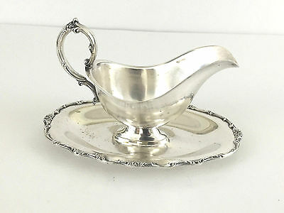 vintage silver platted gravy boat 1960's 1970's