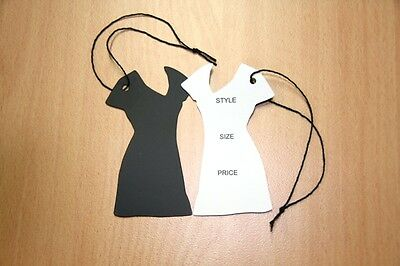 1000 Swing /Hang Tags, Die Cut Ladies Dress,Bulk Buy