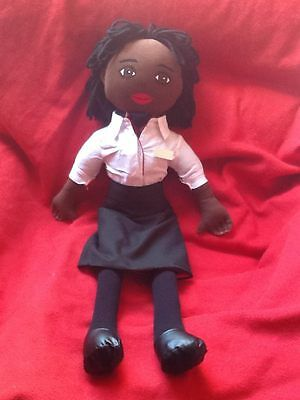 Stewardess Doll Airline Cabin Crew Airways Hand-Painted Personalised Name Badge