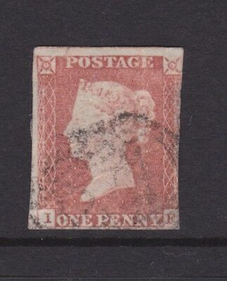 Gb Great Britain Rare Qv 1D Penny Red Imperf Superb Example (Nc12)