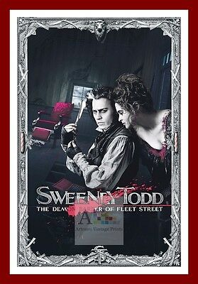 Sweeney Todd  Movie Posters Musicals Vintage & Classic Cinema