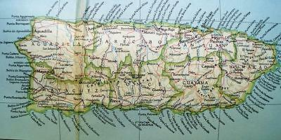 The National Geographic Society Map Countries Of The Caribbean 1947 Vintage