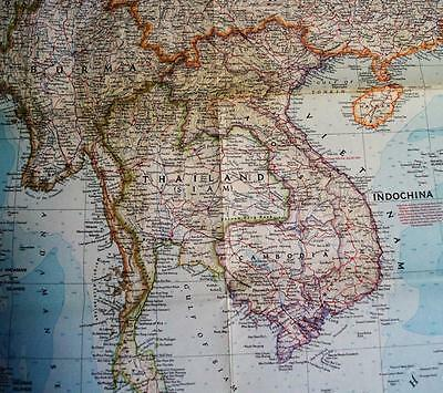 The National Geographic Society Map Of Southeast Asia September 1955 Vintage