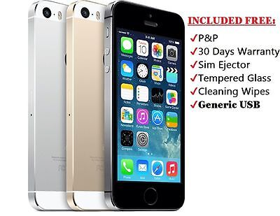 Apple iPhone 5s 16GB 32GB 64GB Unlocked SIM Free Smartphone Various Colours GA