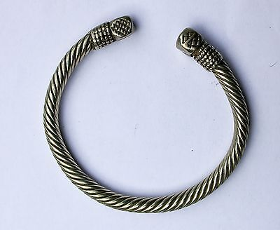 White metal arm bracelet Bangle Tuareg design 137g Maghreb Antique tribal