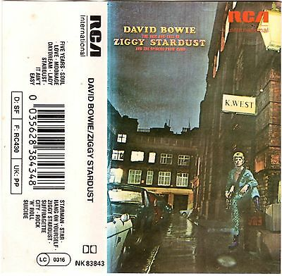 DAVID BOWIE Ziggy Stardust RARE MC Tape MUSIKKASSETTE 1972 RCA NK 83843 Germany