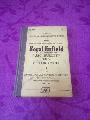 "1955 Royal Enfield 350cc Bullet ""Spare & Replacement Parts"""