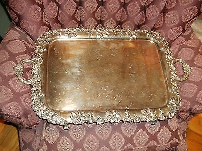 Silver Footed Butlers Tray