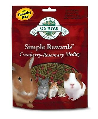 Oxbow SIMPLE REWARDS Treats - Rabbits Guinea Pigs Chinchillas CRANBERRY 2.5 oz