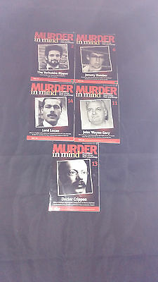 Murder In Mind Magazines X 5 Joblot/Bundle True Crime