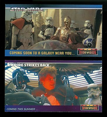 1994 & 1995 Star Wars Widevision Promo Card Pair - Flat Shipping Rate