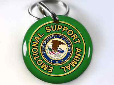 Service Dog ESA Emotional Support Animal Kelly Green Dog tags Pet tags