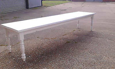 BEAUTIUL SHABBY CHIC FARROW & BALL RUSTIC PINE DINING TABLE Delivery available