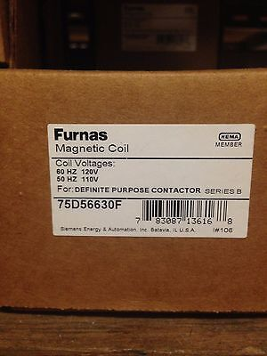 Furnas Replacement Magnetic Coil 120V 75D56630F
