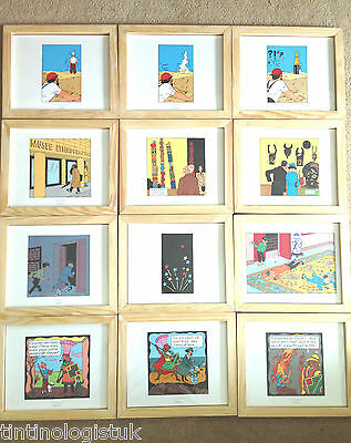 Official Framed Moulinsart Tintin Prints: 3 PART COMIC STRIPS - BUY INDIVIDUALLY