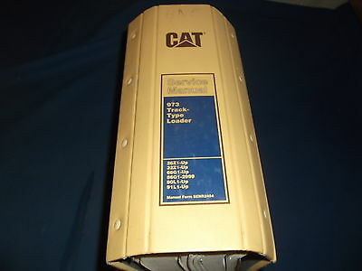 Cat Caterpillar 973 Track Loader Service Shop Repair Book Manual