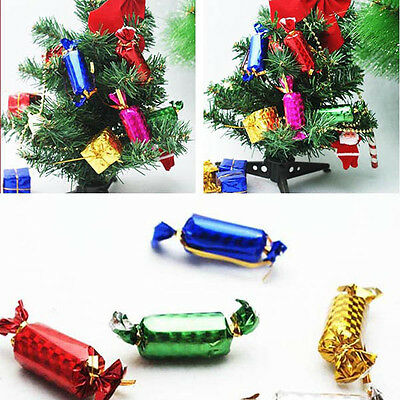 12Pcs Christmas Candy Colorful Home Party Pendant Decoration Ornaments