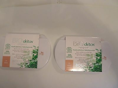 Bourjois Bio Detox Organic Perfecting Powder 8H Matte Beige 54 or Vanilla 52 NEW