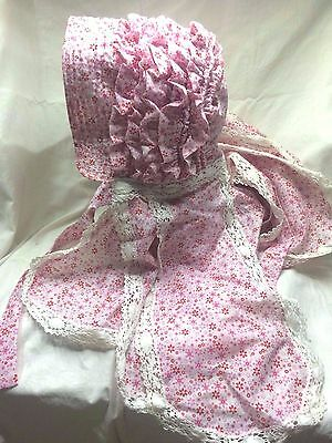 Canal Narrowboat Horseboat Woman's Traditional Bonnet 19th Century Style Cotton