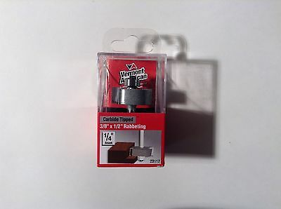 """Vermont American 23117 Carbide Tipped, 3/8"""" x 1/2"""" Rabbeting Router Bit"""