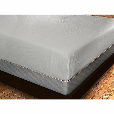 New Waterproof Fitted Vinyl Mattress Cover Bed Bug Dust Mites & Allergy Relief 1