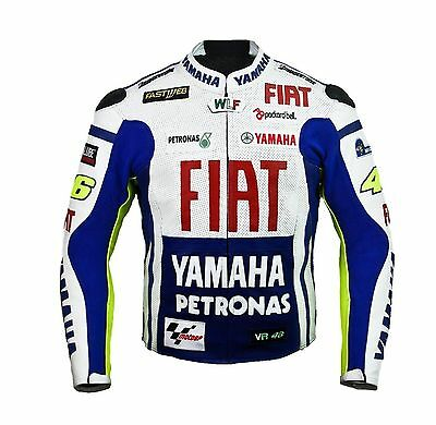Valentino ROSSI FIAT MOTORBIKE MOTORCYCLE MOTOGP RACKING LEATHER JACKET
