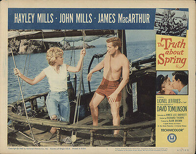 The Truth About Spring 1965 Original Movie Poster Adventure Comedy Drama
