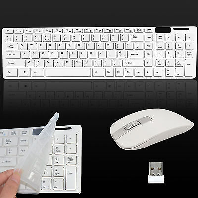 NEW Slim 2.4G Wireless Keyboard and Cordless Optical Mouse Combo For PC