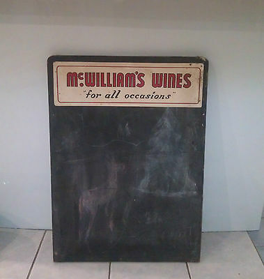 Vintage chalk blackboard wine bar large sign McWilliam's Wines for all occasions