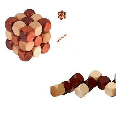 Wooden Snake Cube Brain Teaser Wooden Puzzle  Kid's Christmas Gifts Funny