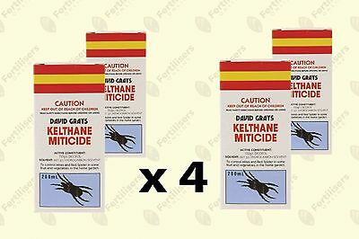 Kelthane Miticide Spray 200mL x4 (FOUR BOTTLES) David Grays Dicofol Mites Spider
