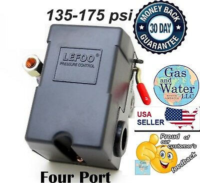 Pressure Switch for Air Compressor 135-175 psi FOUR PORT 26A Heavy Duty LEFOO