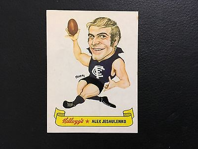 ALEX JESAULENKO 1973 Kellogg's Football Sticker