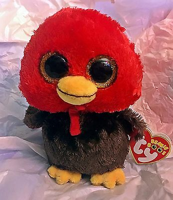 "Feathers Ty Beanie Boo - Turkey - MWMT - 6"" - FREE SHIPPING"